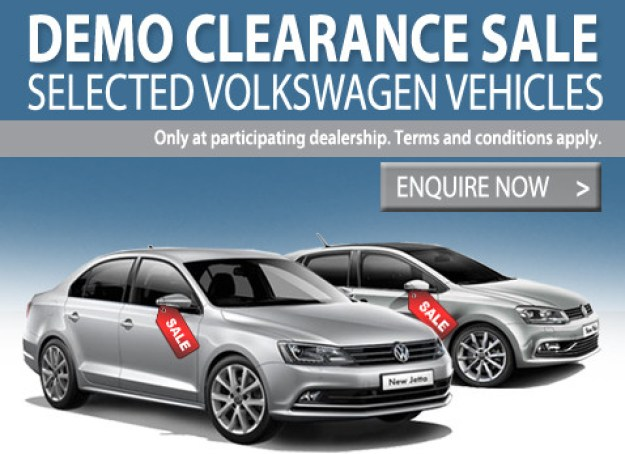 2016 Year end demo clearance sale on Vikswagen