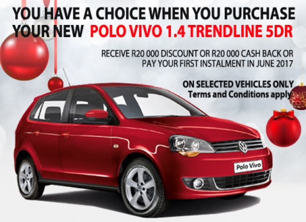 Buy now pay later VW Polo Vivo deals - Pay 1st installment in June 2017