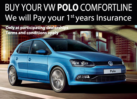 Free insurance for a year - buy a VW Polo Confortline in February