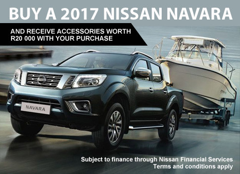 Buy a 2017 Nissan Navara and receive Accessories to the value of R10 000