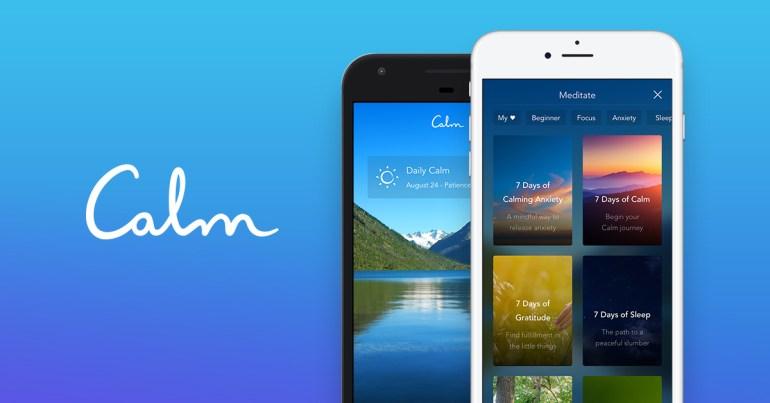 Calm meditation app