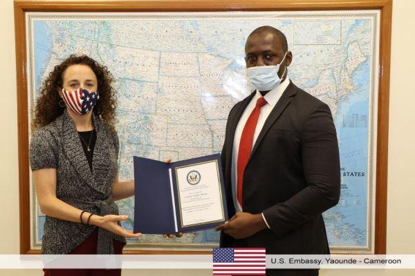 Cedrick_Noufele_USA_Ambassade_Yaounde