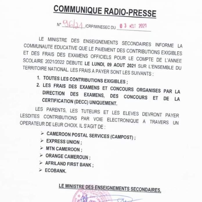 Communiqué_Éducation_Secondaire