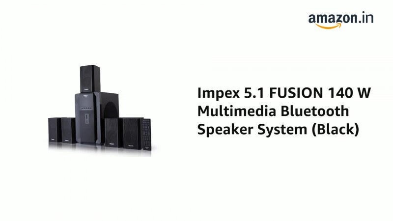 Impex FUSION 140 Watts 5.1 Channel Multimedia Speaker System