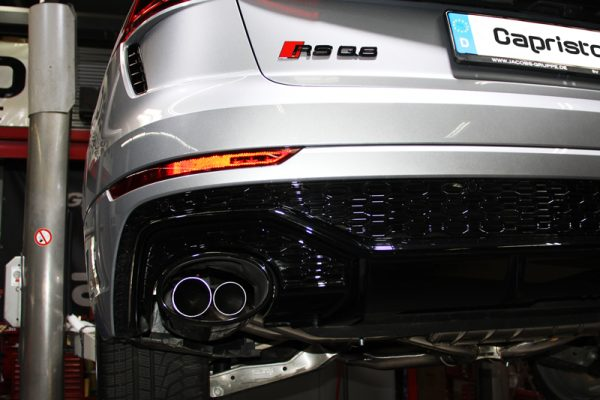audi rsq8 sq8 valved exhaust with middle silencer spare for oem tips e2p