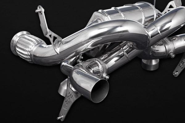 lamborghini huracan performante evo valved x pipe exhaust for oem tips