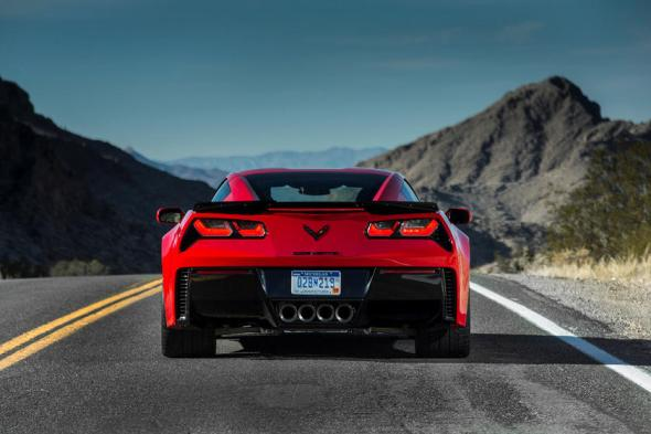 2014-2019 Chevrolet Corvette Stingray Coupe Rear View