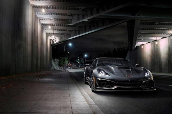 2019 Chevrolet Corvette ZR1 Coupe Front Angle View