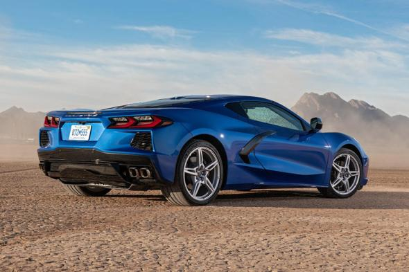 2020-2021 Chevrolet Corvette C8 Rear-Facing View
