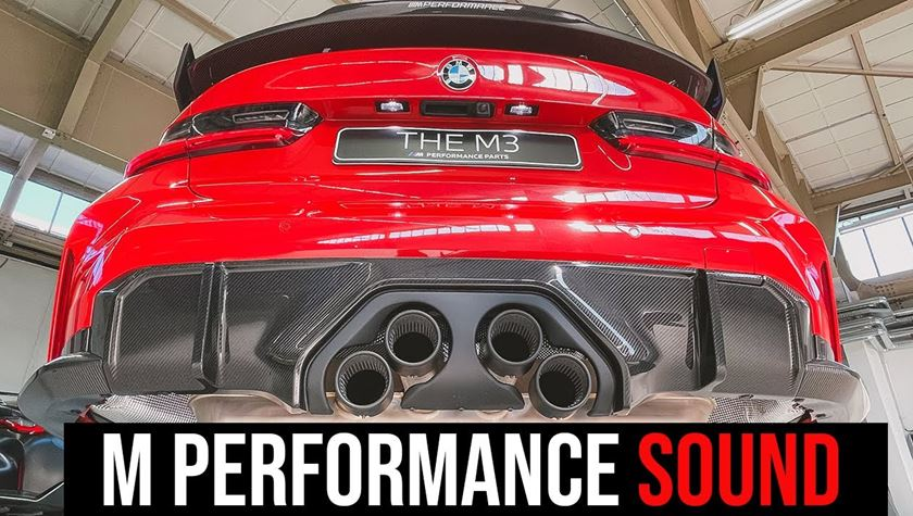 exclusive the sound of the m performance exhaust for new 2021 bmw m3 and m4