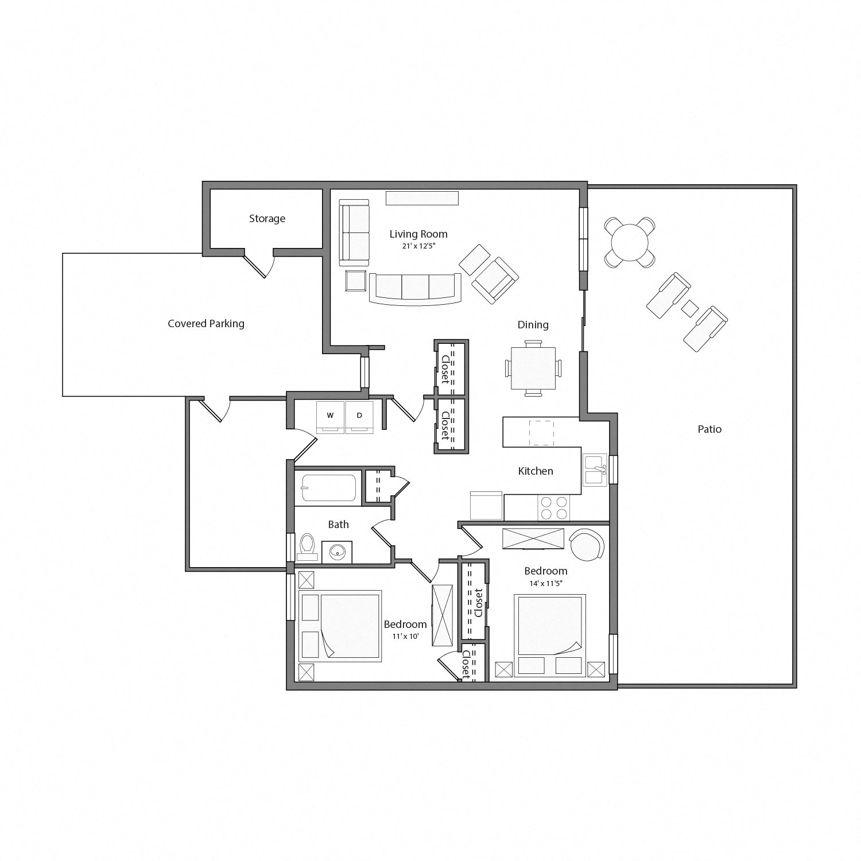 The Arbors Rental Home Floorplan Willow