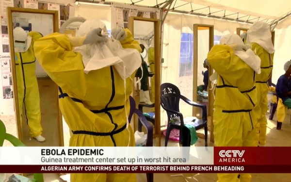 Ebola treatment center set up in Guinea's worst-hit area ...