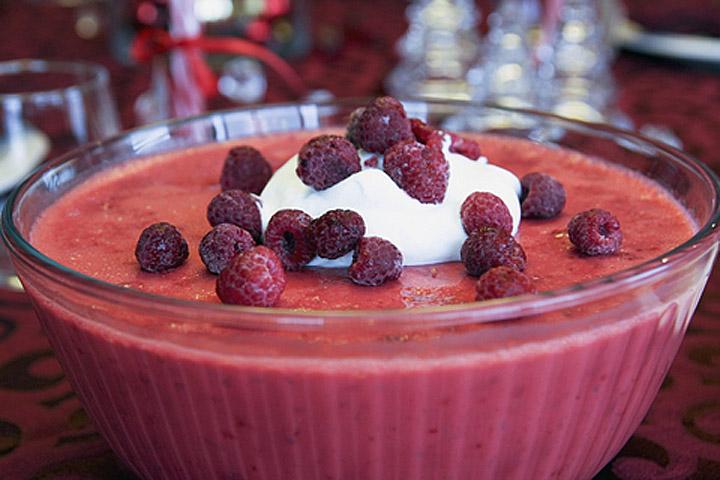 Salad Jello Mold Raspberry