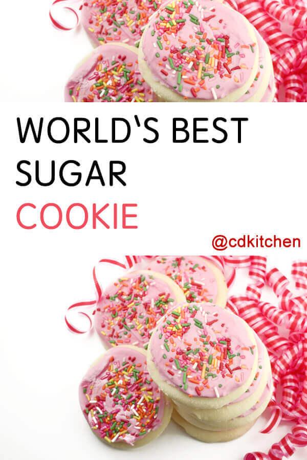 Worlds Best Sugar Cookie Recipe