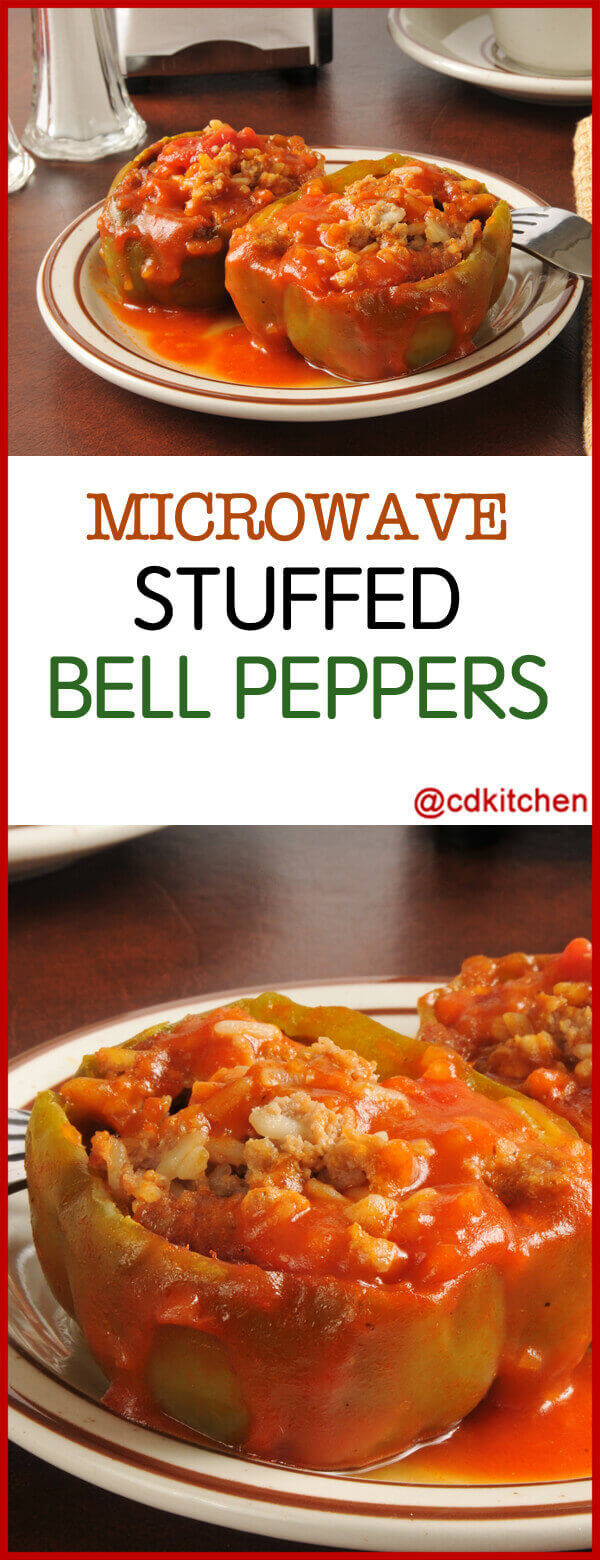 microwave stuffed bell peppers recipe
