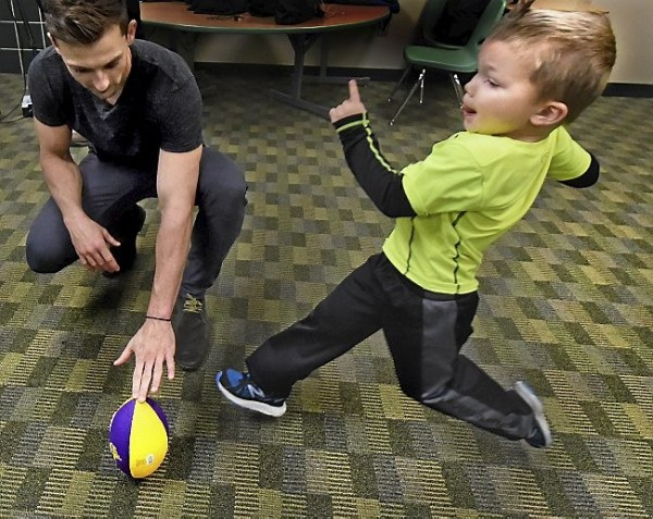 Vikings' Blair Walsh visits his biggest supporters