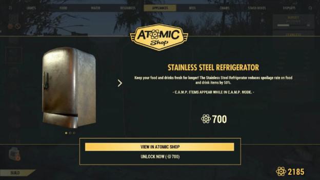 Image result for atomic shop fallout 76 fridge