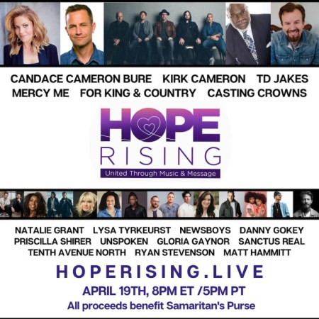 WATCH: Hope Rising Benefit Concert Raises Over $1.6 Million for Samaritan's Purse as It Helps Serve on the Frontlines of Global Coronavirus Crisis