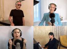 """Celine Dion, Andrea Bocelli, Lady Gaga, and John Legend Team Up for Moving Rendition of """"The Prayer"""""""