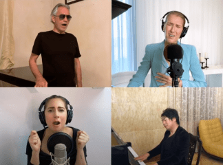 "Celine Dion, Andrea Bocelli, Lady Gaga, and John Legend Team Up for Moving Rendition of ""The Prayer"""