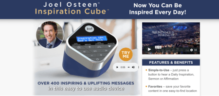 """Joel Osteen Inspiration Cube"" to be Released in September"