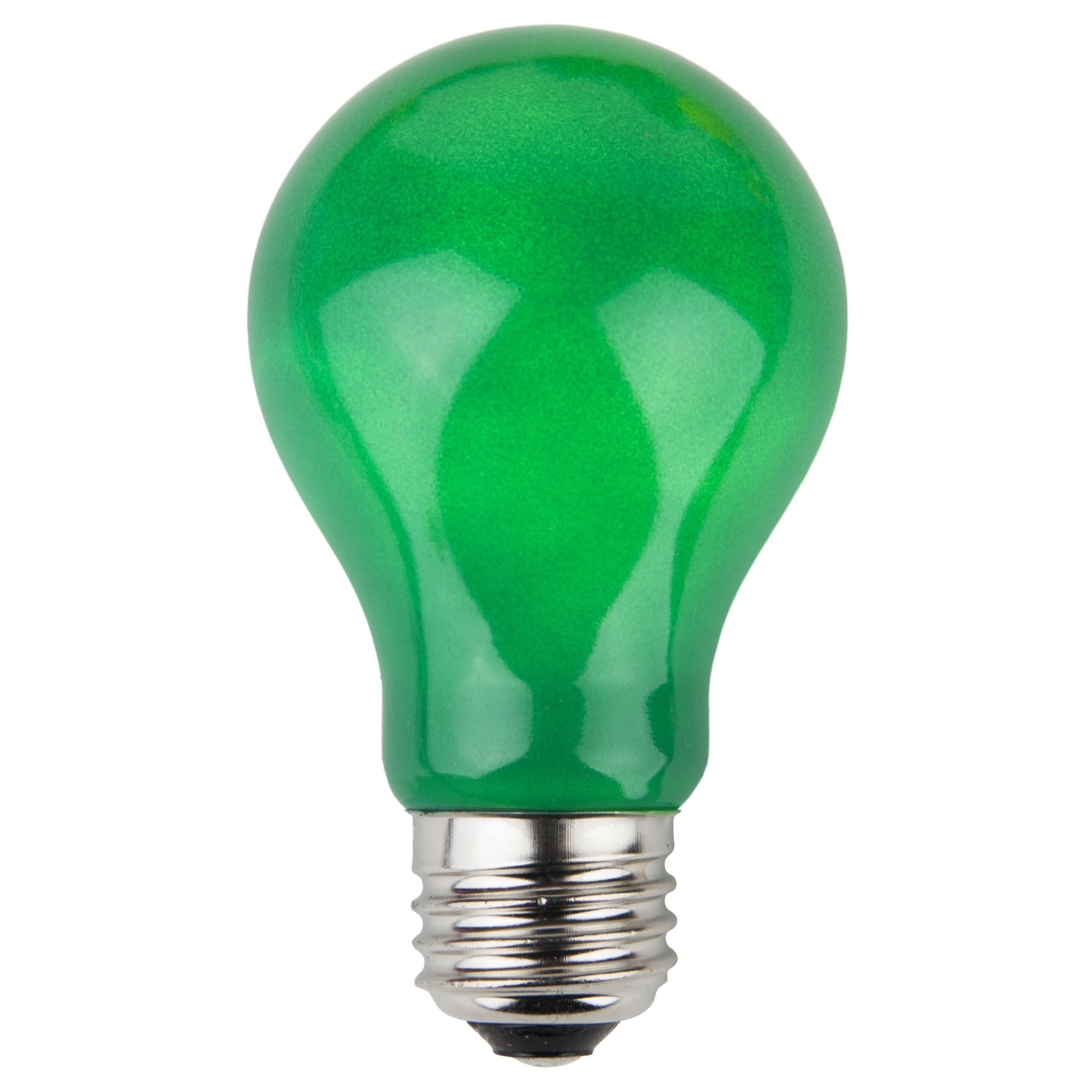 E26 Party And Sign Bulbs A19 Opaque Green 25 Watt