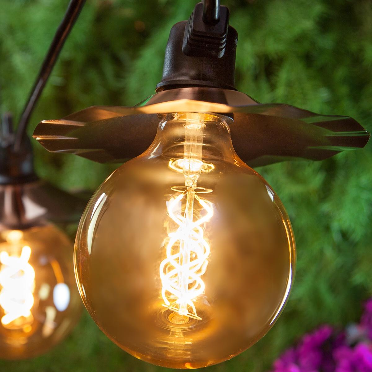Patio Lights Warm White LED Lights 7 G125 E26 Bulbs