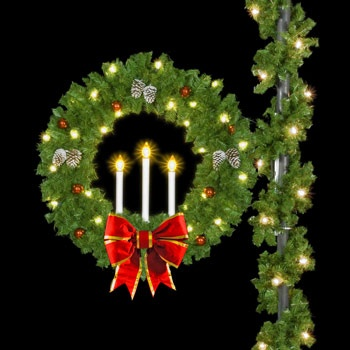 Artificial Christmas Wreaths 50 Candle Wreath With 18