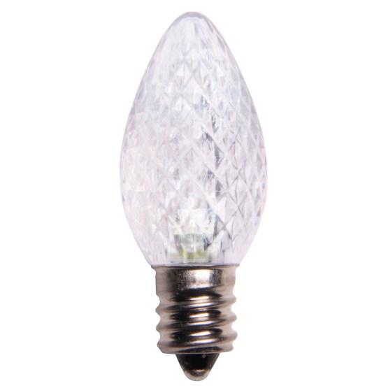 C7 Cool White LED Christmas Light Bulbs