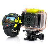 sports camera with wifi remote control watch