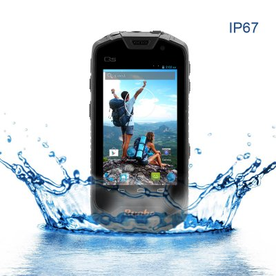 Runbo Q5 Rugged Smartphone - IP67 Waterproof Rating, Quad Core 1.5GHz CPU, 32GB Memory, Gorilla Glass (Black)