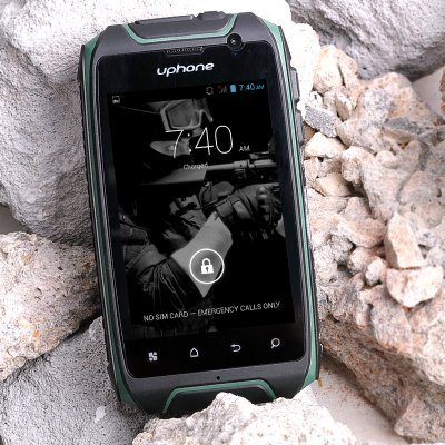 Uphone U5+ IP67 Smartphone - 3.5 Inch Display,1.3GHz Dual Core CPU, Dust proof, Waterproof, Shockproof, Dual SIM Slot (Green)