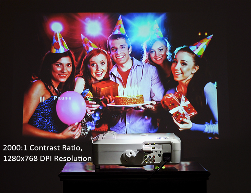3800 Lumens HD LED Projector