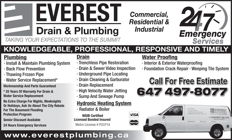 Everest Drain Amp Plumbing East York ON 31 Commercial