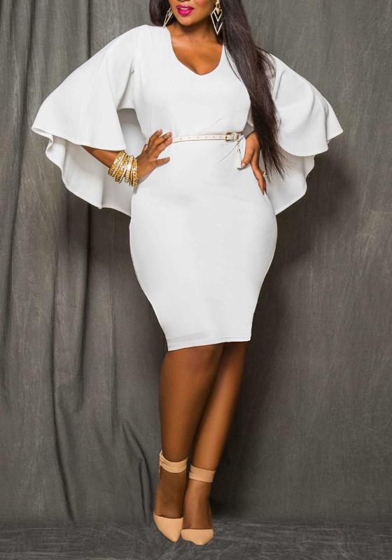 Girl Talk Clothing Plus Size Cap Sleeve Lace Bodycon Dress