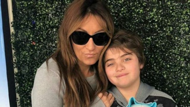 Marcela Tauro y su hijo