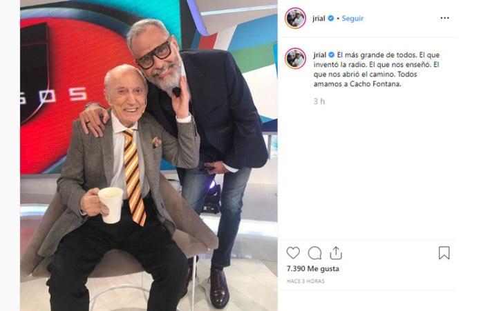"""Cacho Fontana, internado de urgencia luego de su entrevista en """"Intrusos"""""""