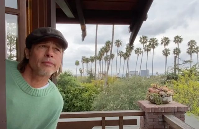 """Video   Brad Pitt was """"the guy from the weather"""" from your home"""