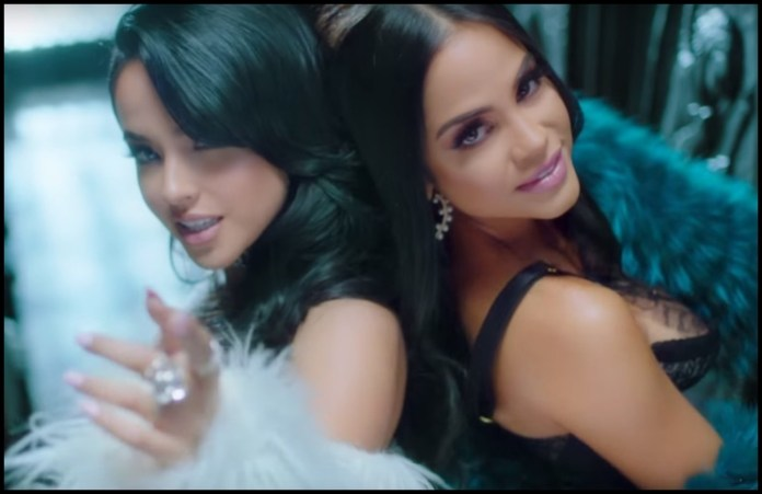 Two drops of water! Becky G took a selfie with her mom, and the resemblance is striking