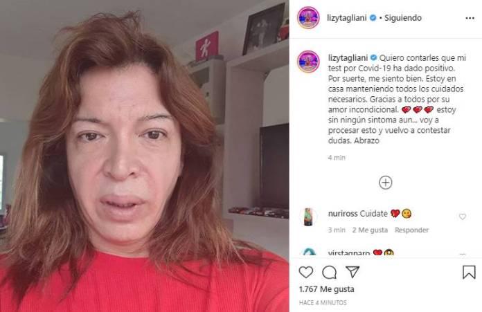 """Lizy Tagliani rompió en llanto tras confirmar que tiene coronavirus: """"Me siento responsable de que alguien se haya contagiado por mí"""""""
