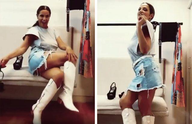 Fernanda Callejón acaparó miradas con una remera galáctica y falda (muy) rota