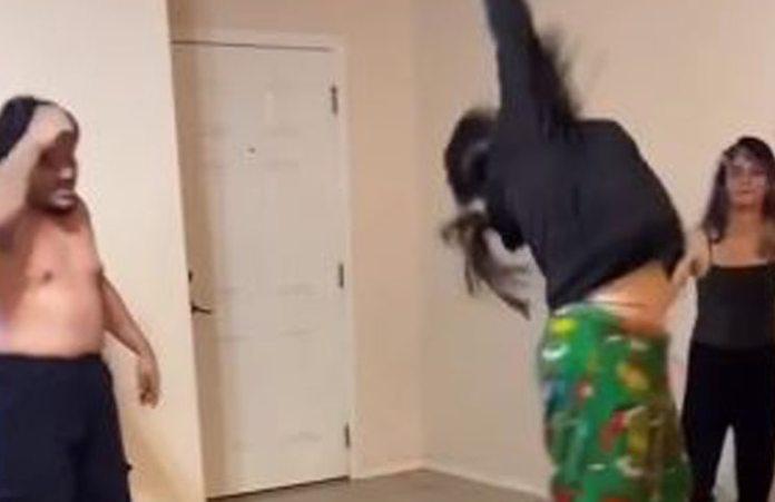 Video: estaba borracha, hizo la mortal hacia atrás y se volvió viral