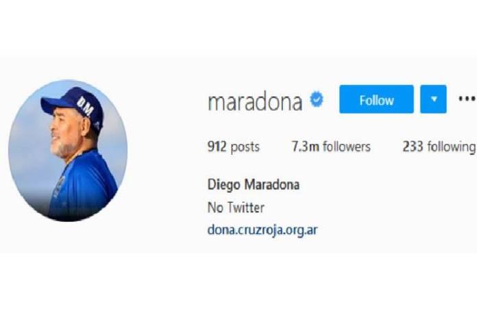 Las llamativas modificaciones que hubo en el Instagram de Maradona tras su muerte