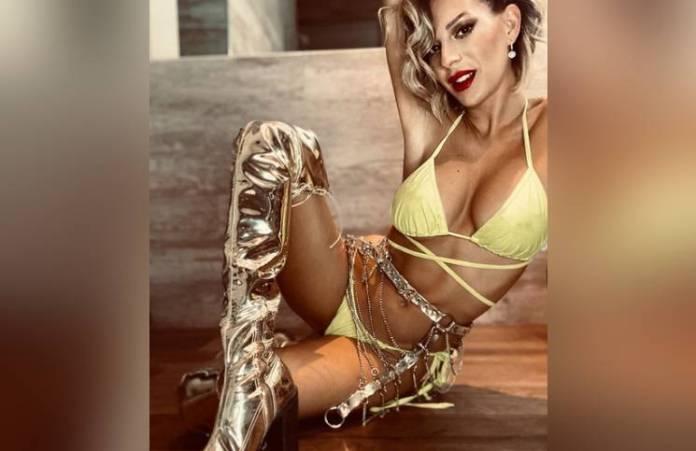 Noelia Marzol bailó (y beboteó) a la cámara con un arriesgadísimo escote