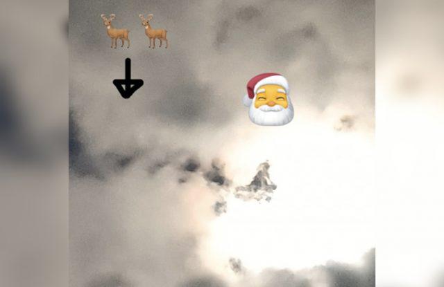 """Apareció la imagen de """"Papá Noel"""" (con su trineo) en el cielo"""