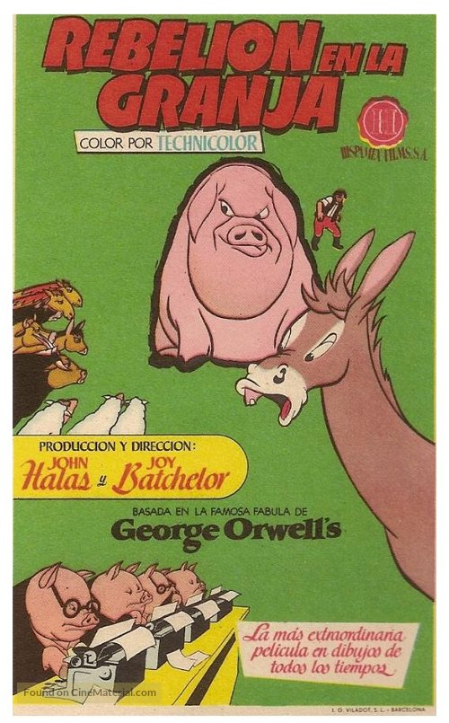 Image of: La Granja Animal Farm Spanish Movie Poster Cinematerial Animal Farm Spanish Movie Poster