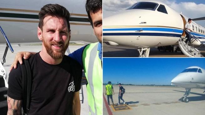 Los lujosos detalles del avión privado con el que Messi llegó a Rosario: está valuado en 15 millones de dólares - Ciudad Magazine
