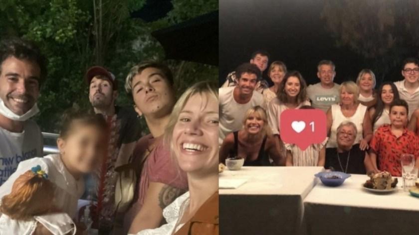 Las fotos de la Navidad de Nicolás Cabré y Laurita Fernández: con Rufina y las familias de los dos juntas