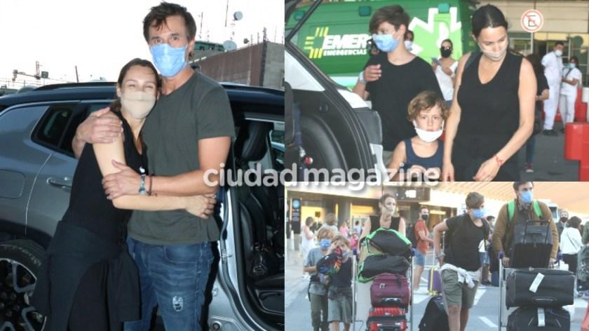 Las primeras fotos de Pampita, embarazada y recién llegada a Argentina. Foto: Movilpress