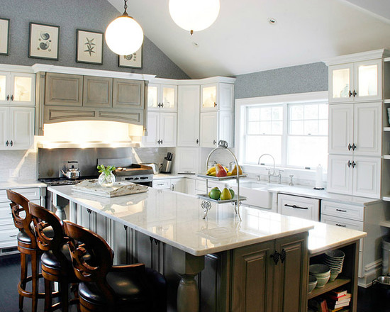 L Shaped Kitchen Design Breakfast Bar
